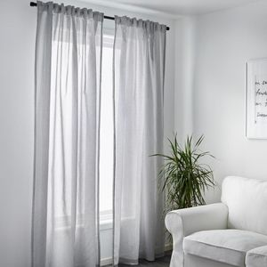 "Two Pairs Ikea 98"" Pinstriped Gulsporre Curtains"